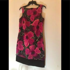 AB Studio Black & Pink Dress